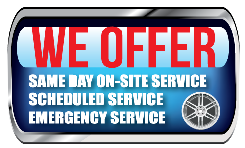 same day onsite service, emergency wheel repair
